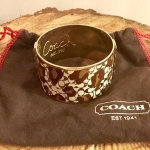 Authentic Coach leopard print bangle